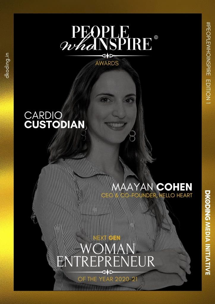 Maayan Cohen People Who Inspire PWI Woman Entrepreneur of the Year Award 2020-21