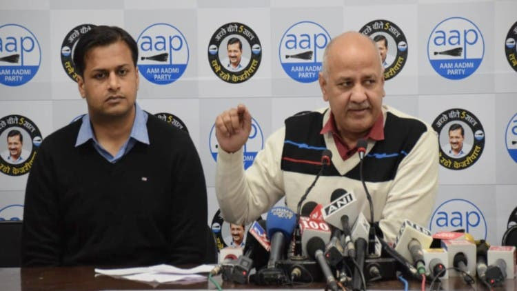 AAP Leader Manish Sisodia on education challenging BJP government