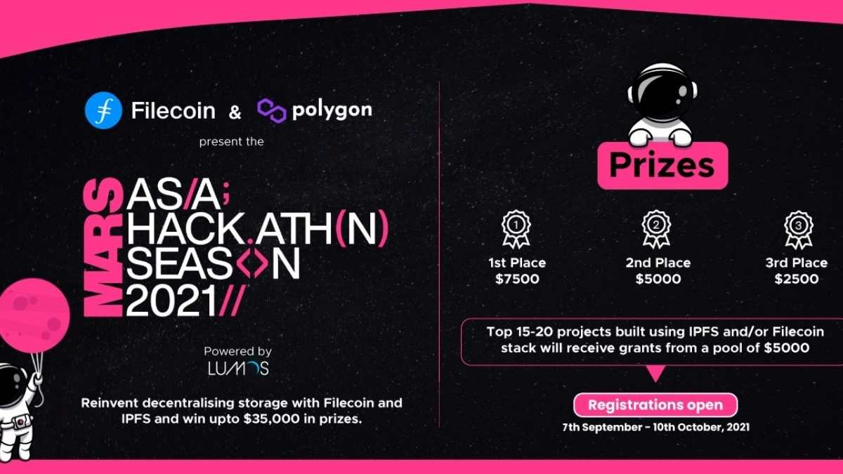 Mars Hackathon, organized by Filecoin, IPFS, and Polygon, launched in India to empower developers with robust decentralized storage solutions