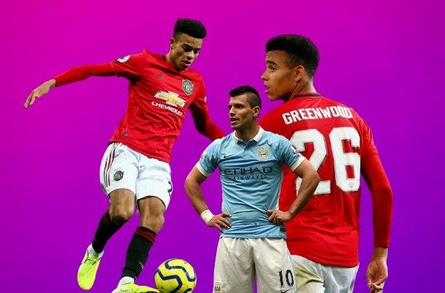Mason Greenwood and Sergio Aguero