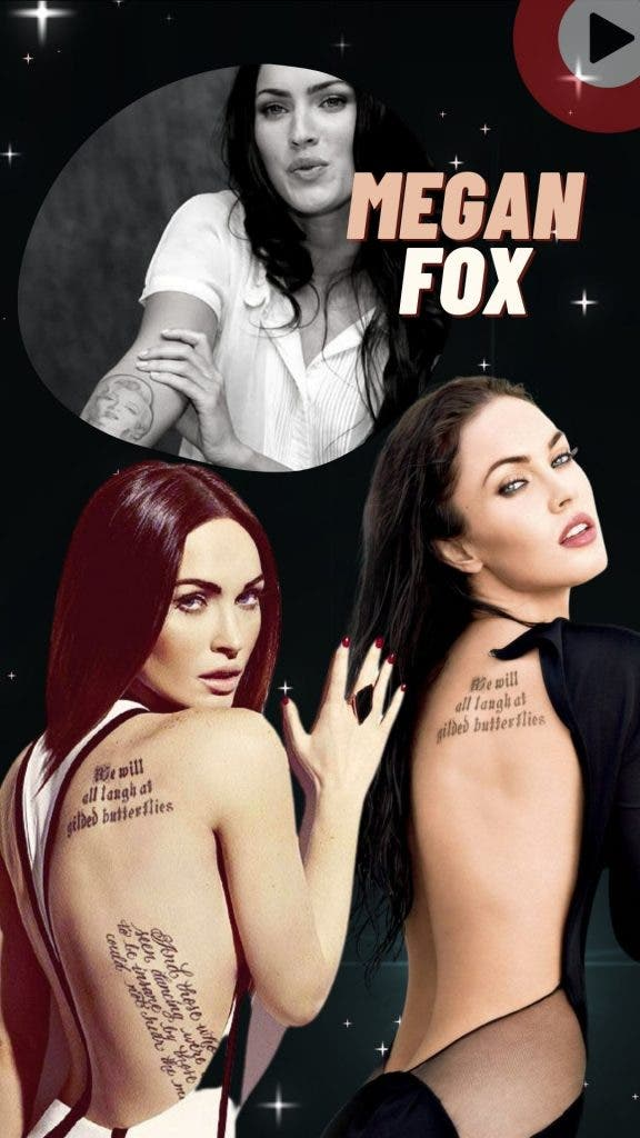 Megan Fox — Smoking Hot Women Celebrities Will Make You Fall in Love With Tattoos— Smoking Hot Women Celebrities Will Make You Fall in Love With Tattoos
