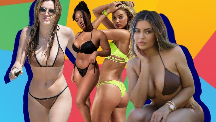 Celebrities Get Wet And Wild In Neon Bikinis