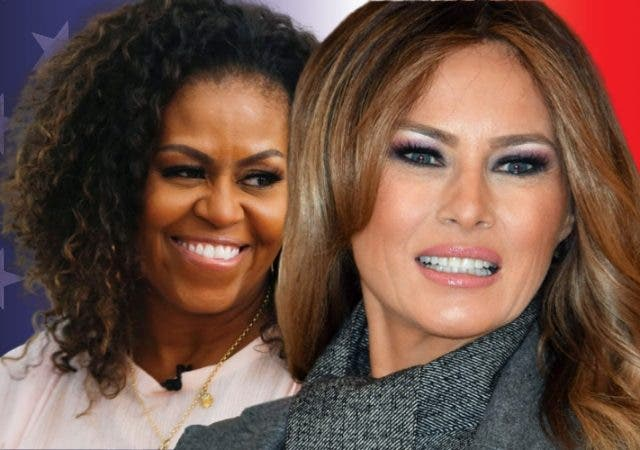 Michelle Obama Melania Trump FLOTUS