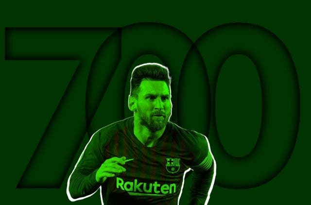 Lionel Messi 700 Goals football