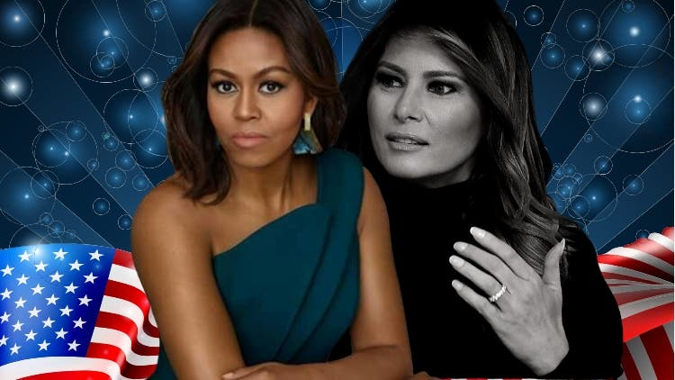 Comparing Melania Trump and Michelle Obama side-by-side