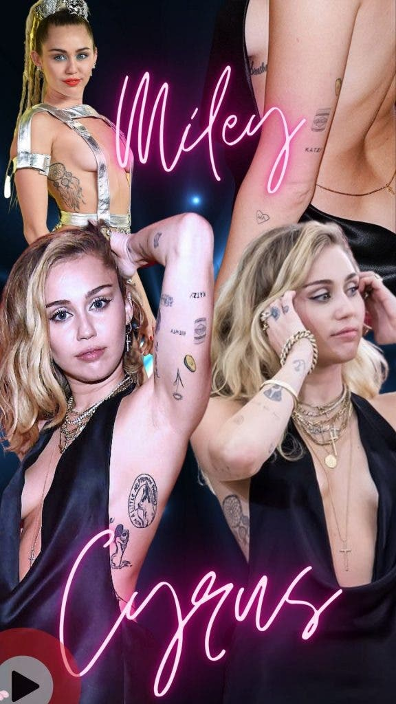 Miley Cyrus — Smoking Hot Women Celebrities Will Make You Fall in Love With Tattoos