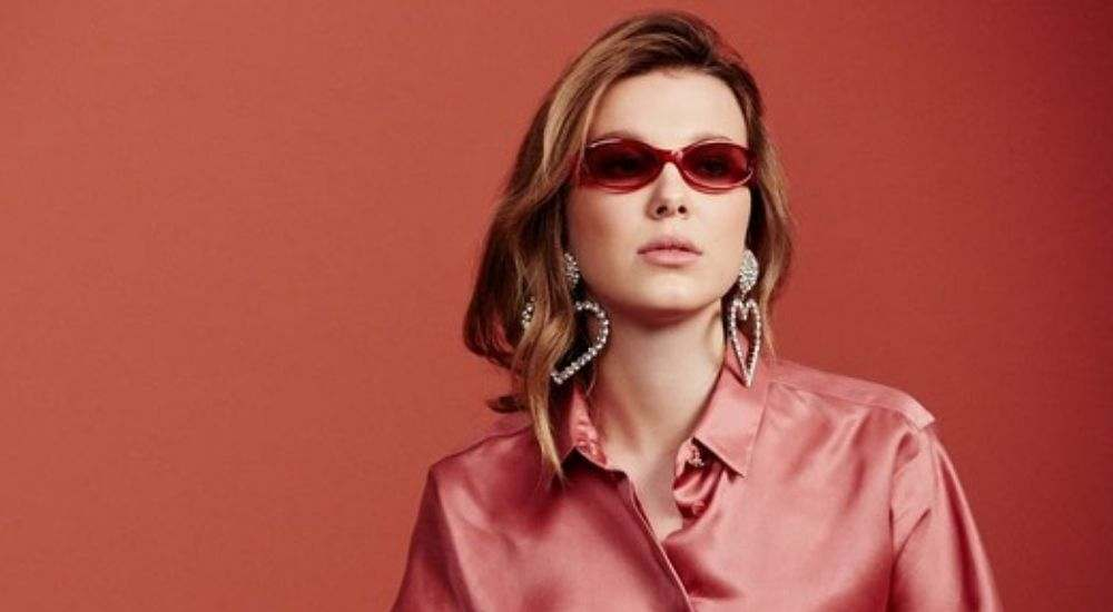 Millie Bobby Brown vogue eye wear collection