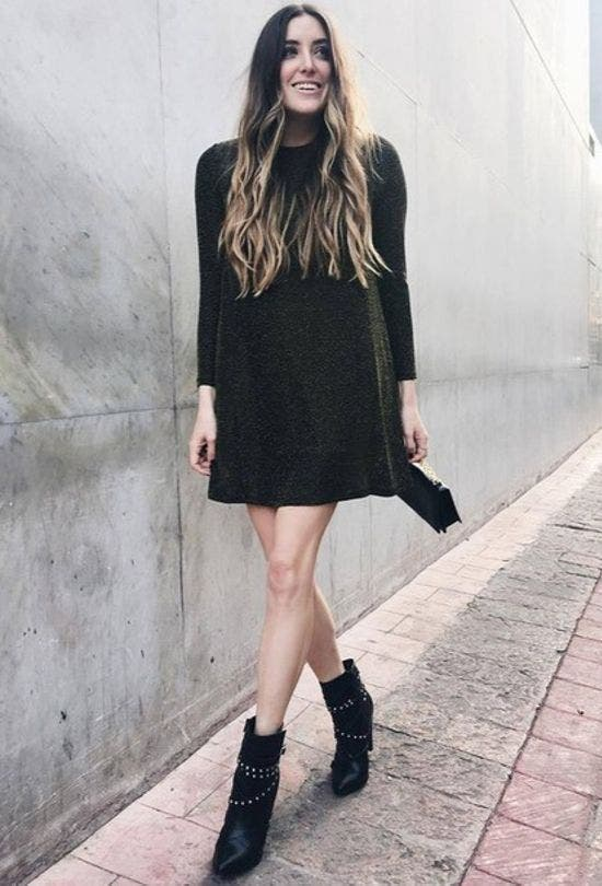 Mini-Dress-With-Ankle-Boots-Fashion-And-Beauty-Lifestyle-DKODING