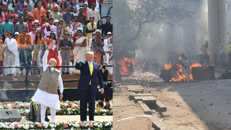 While Rockstar Modi Entertains Trump, Violence Rocks His Country's Capital