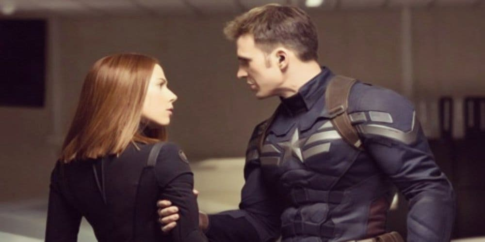 Naughty Captain America with Black Widow DKODING