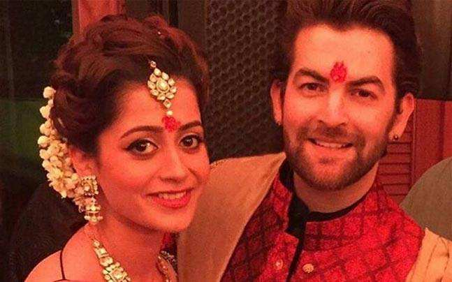 Neil Nitin Mukesh with wife