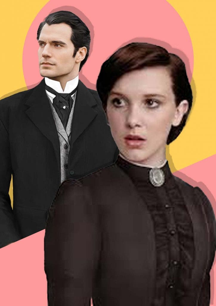 Millie Bobby Brown and Henry Cavill on 'Enola Holmes'