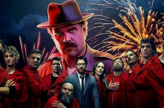 Netflix Money Heist and Stranger Things Crossover DKODING