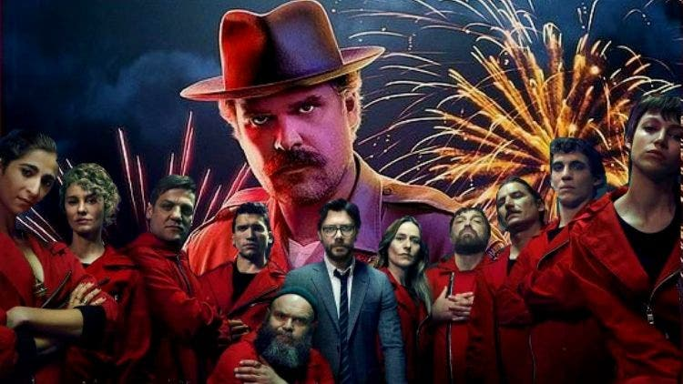 Hopper Ditches Stranger Things Kids To Join Money Heist Gang