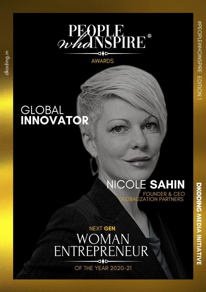 Nicole Sahin People Who Inspire PWI Woman Entrepreneur of the Year Award 2020-21