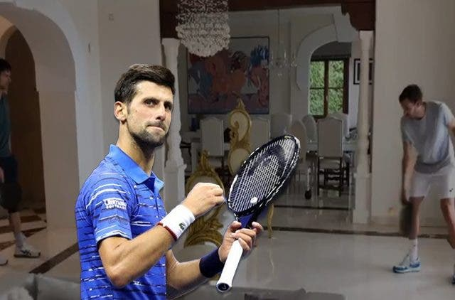 Novak Djokovic Enjoys Tennis At Home DKODING