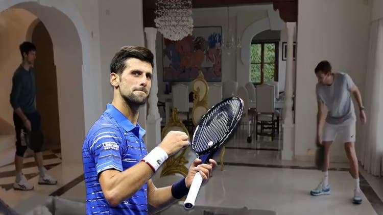 Watch: Novak Djokovic Tries His Hand At Frying Pan Tennis