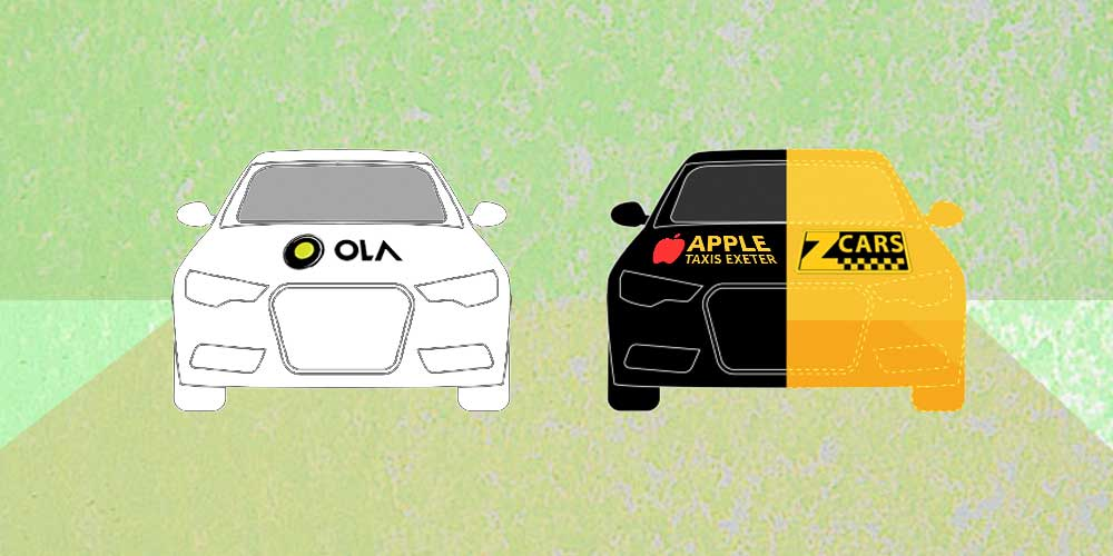 ola cabs in UK taking apple taxis and z-cars market