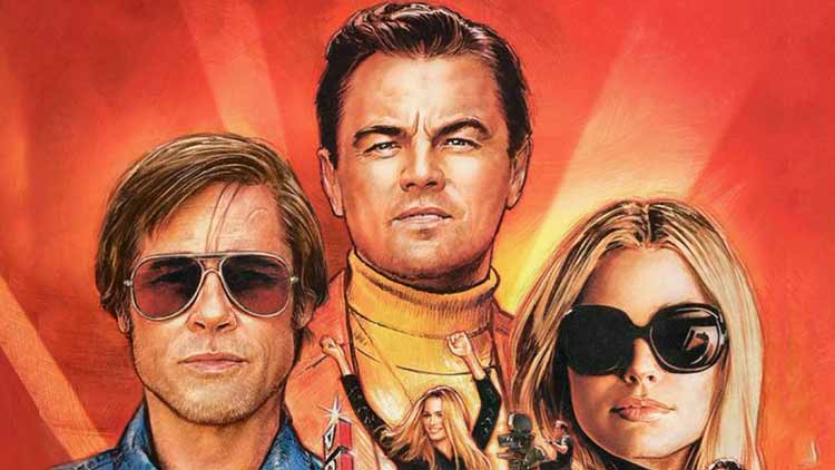 Once-Upon-A-Time-In-Hollywood-Poster-Hollywood-Entertainment-DKODING