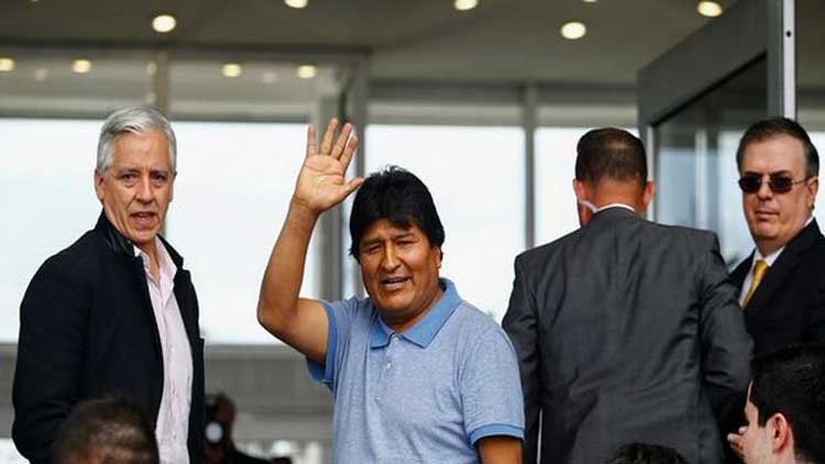 Ousted Evo Morales arrive in Mexico, says 'fight continues'