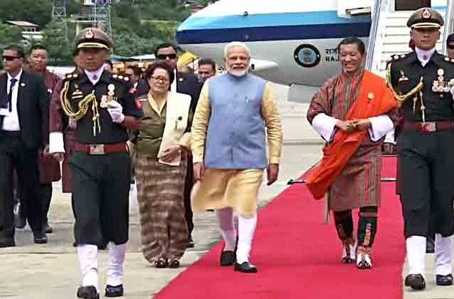 PM-Modi-Receive-Guard-Of-Honour-In-Bhutan-Videos-DKODING