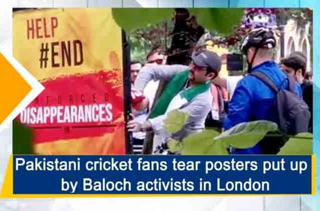 Pakistani-Cricket-Fans-Tear-Poster-Put-By-Baloch-Activists-In-London-Videos-DKODING