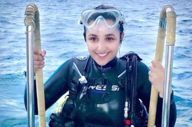Parineeti Chopra scuba diving Bolywood DKODING