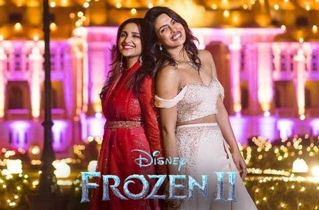 Priyanka-Chopra-Parineeti-Chopra-Frozen2-Bollywood-Entertainment-DKODING