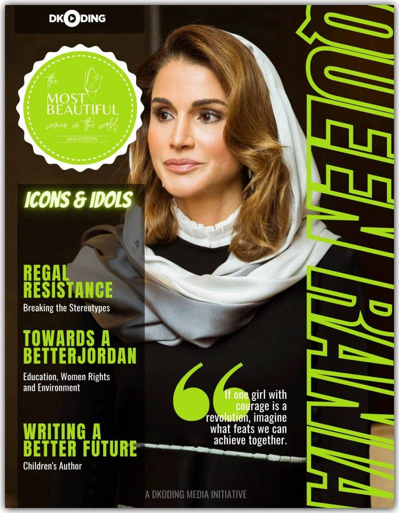 Queen Rania among the Most Beautiful Women in the World at the People Who Inspire (PWI) Awards 2020