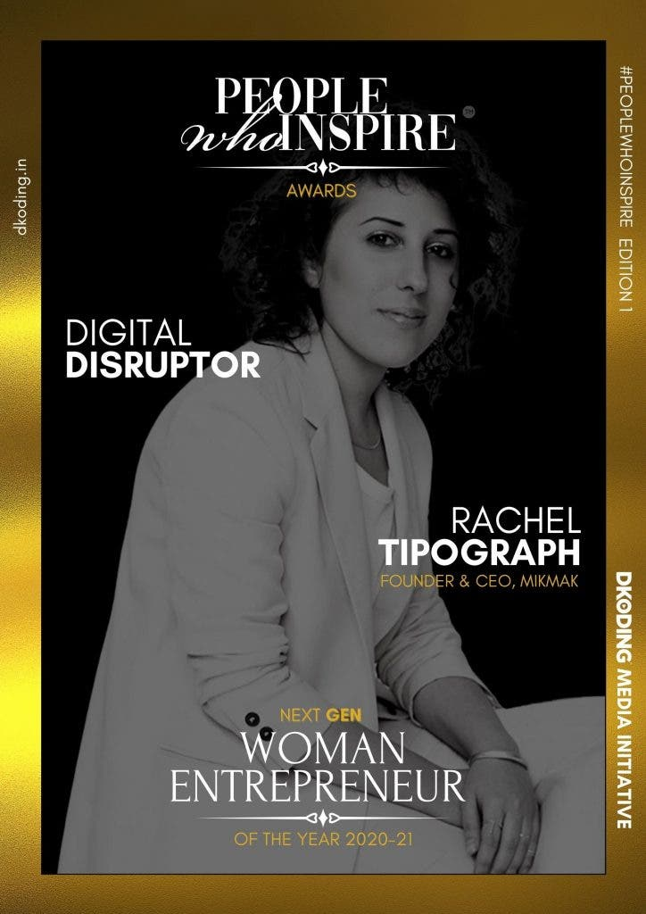 Rachel Tipograph People Who Inspire PWI Woman Entrepreneur of the Year Award 2020-21