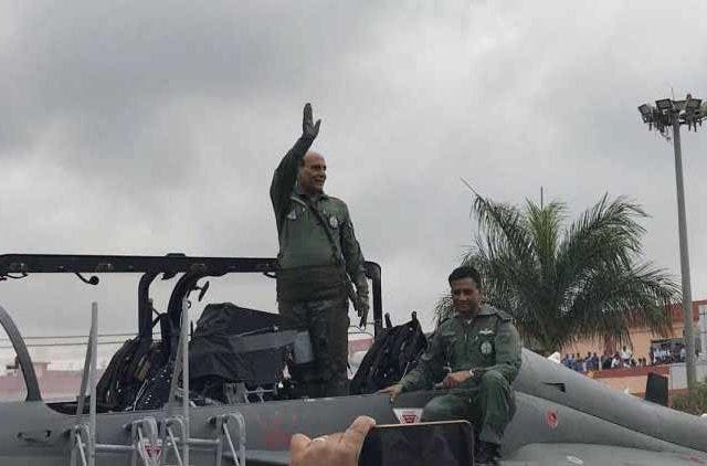 Rajnath singh flies Tejas DKODING