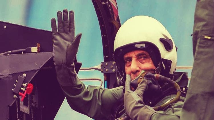 Amid an economic slowdown, India's defence minister, bit by the adventure bug is taking Jet rides