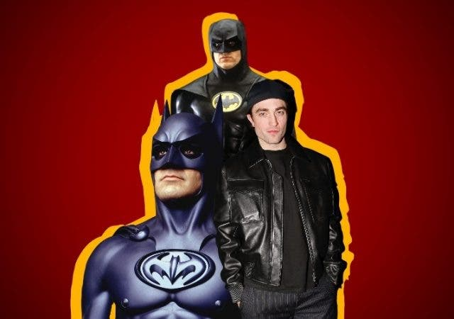 Michael Keaton Batman Robert Pattinson and George Clooney