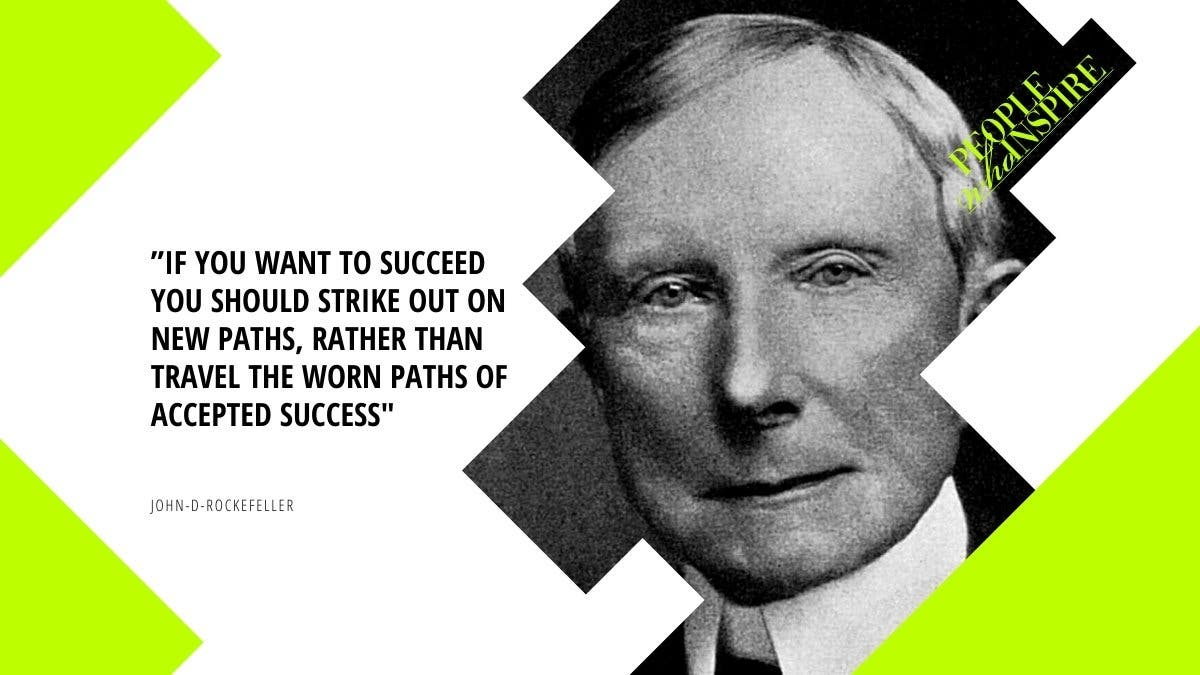 Rockefeller First Self Made Biillionaire Quote