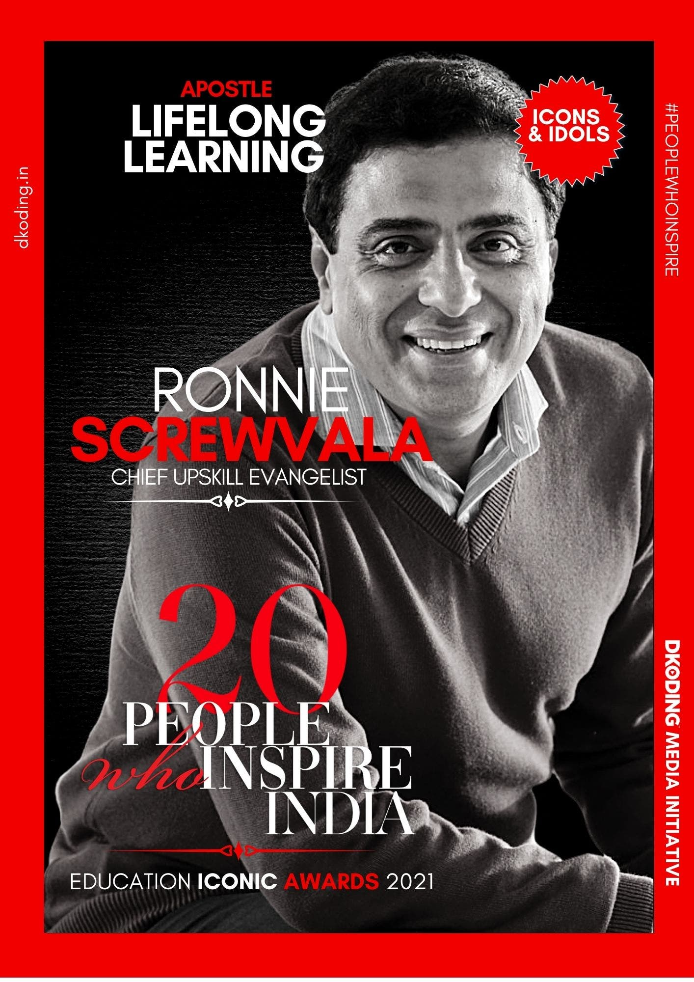 Ronnie Screwvala wins People Who Inspire India PWI Education Iconic Award 2021