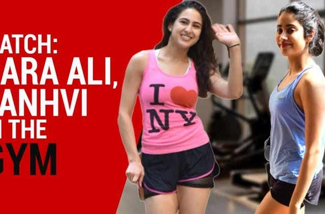 Sara Ali Khan, Janhvi Kapoor spotted outside gym DKODING