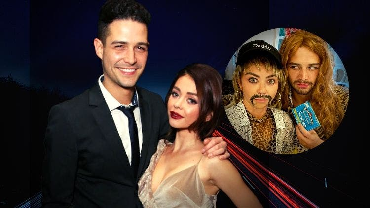 Sarah Hyland And Wells Adams Have Lost Track Of The Calender And Are Celebrating Halloween In Mid-April