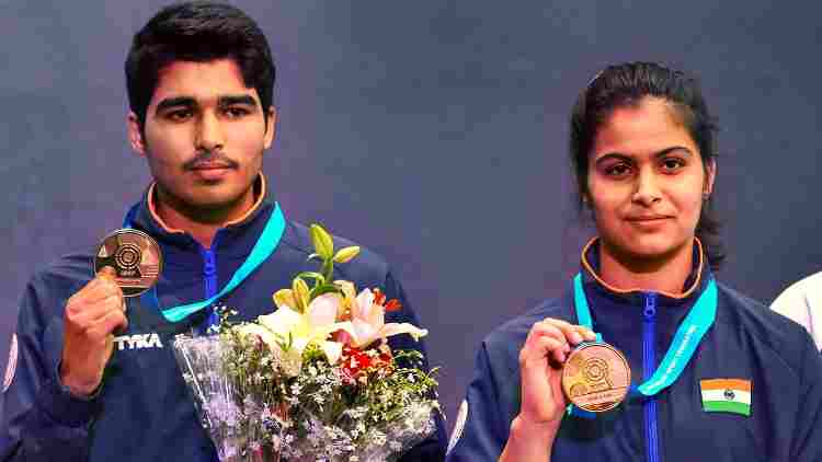 Saurabh-Chaudary-And-Manu-Bhaker-Gold-ISSF-Others-Sports-DKODING