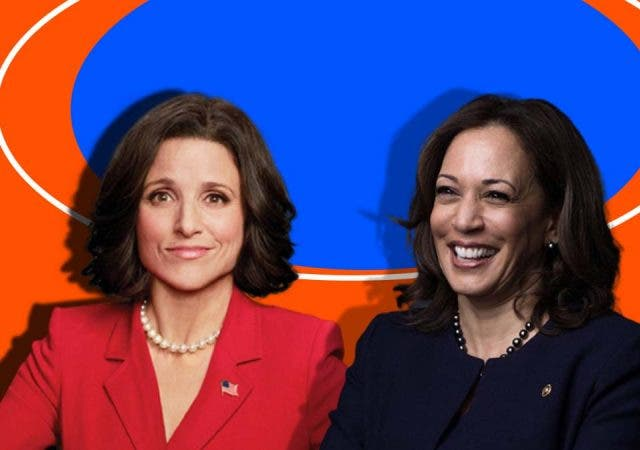 Selina Meyers and Kamala Harris
