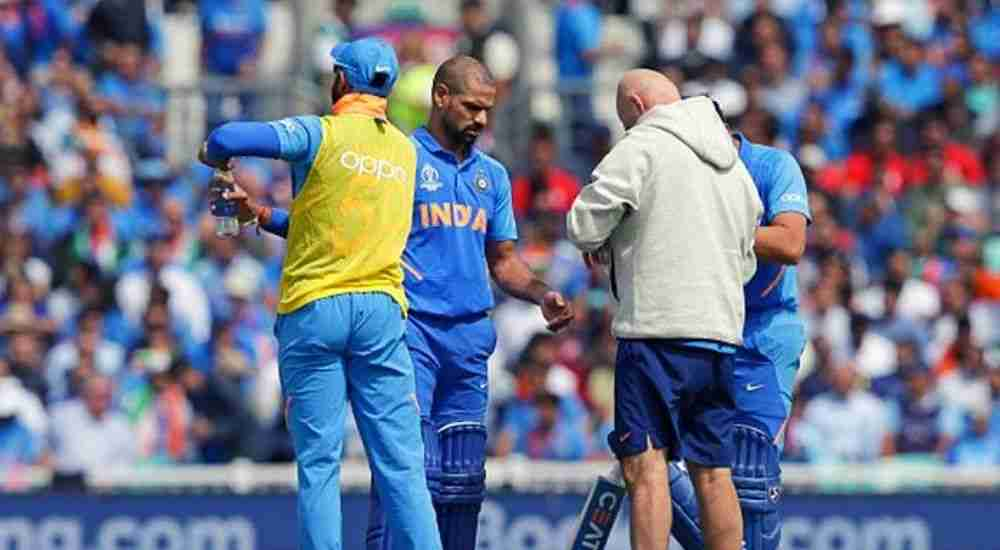 Shikhar-Dhawan-CWC19-Thumb-Injury-Cricket-Sports-DKODING