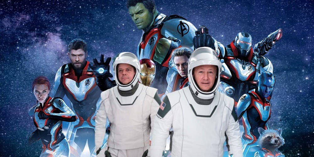 Elon Musk's Ultimate Geek Fantasy Surfaces In Spacesuits: Avengers-SpaceX Fusion