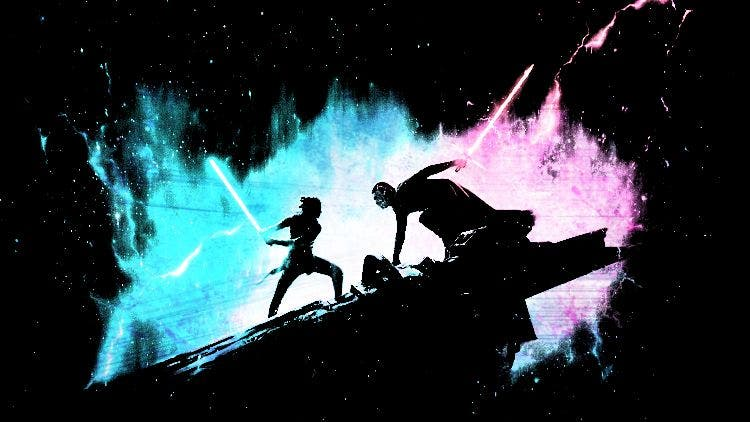 Kylo Ren fight Rey atop the wreckage of a ship Hollywood DKODING