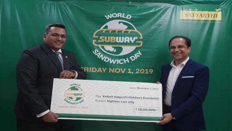 Subway raises 1.8 million INR for Underprivileged Children on World Sandwich Day