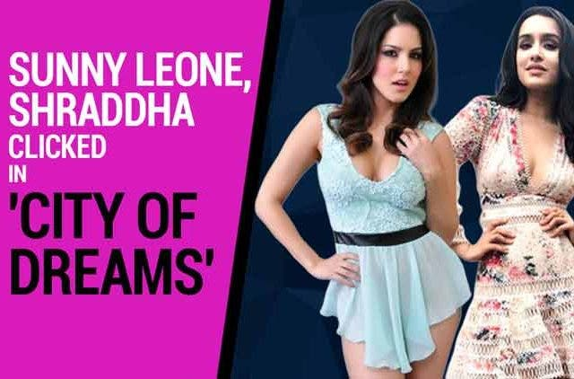 Sunny-Leone-Shraddha-clicked-in-city-of-dreams-Videos-DKODING
