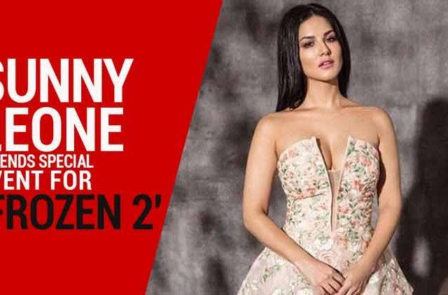 Sunny-Leone-attends-special-event-for-Frozen-2-Videos-DKODING