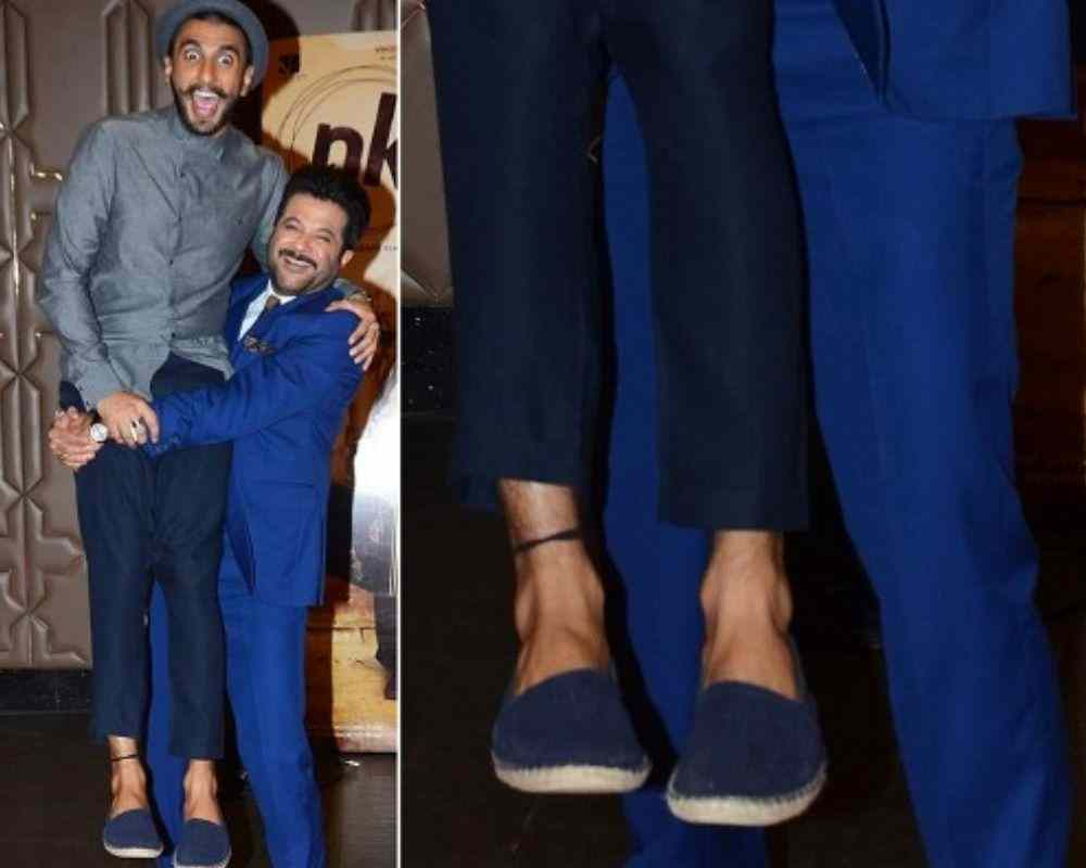 Superstitious-Ranveer-Wears-Black-Thread-Bollywood-Entertainment-DKODING