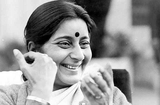 Sushma-Swaraj-Black-And-White-Trending-Today-DKODING