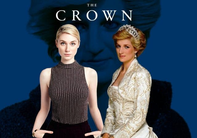 Elizabeth Debicki plays Diana in The Crown