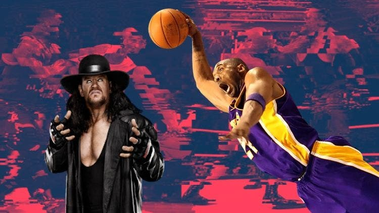 The Undertaker On The NBA Court And Kobe Bryant In The WWE Ring