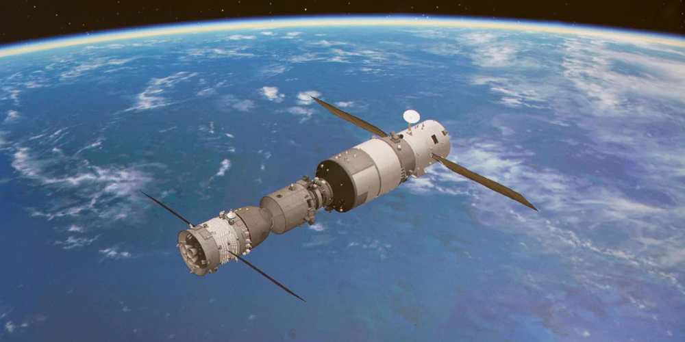 Representation model of Chinese space station Tiangong 2